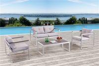 Outdoor furniture brushed aluminium brushed polywood coffee table sofa