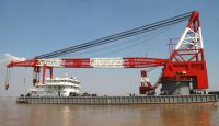 800T floating crane barge