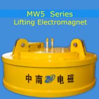 Excavator Using Lifting Electromagnet for Steel Scraps