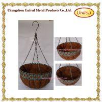 Garden flower wrought iron hanging basket with hook