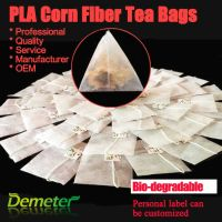corn fiber biodegradable pyramid tea bags heat seal