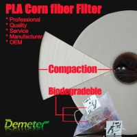 biodegradable PLA corn fiber filter for paper cup with tea