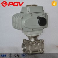 hot sale 3 piece thread 1000 wog stainless steel motorized ball valve