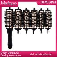 Popular detacheable head removable handle hair brush set