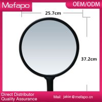 Round Plastic Frame Hair Salon Hand Makeup Mirrors Wholesale