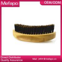Wooden Oval Round Boar Bristle Beard Brush