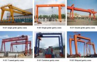 Ruber Tyre Mobile Boat Lifting Gantry Crane