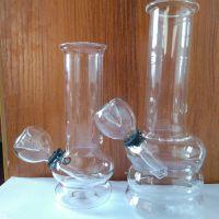 Glass waterpipe smoking set