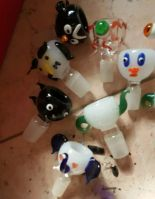 Glass smoking accessories glass dabber slide bowl glass nail glass downstems