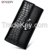 Sendefn Vintage Leather Long fashion ladies purse brand ladies purse