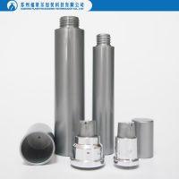 Thin plastic airless pump bottle