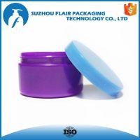 Round empty 150 ml plastics jars