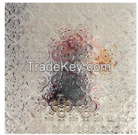 3-8mm Clear and Colored Patterned Glass (Puzzle, Flora, Nashiji, Moru-