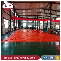 400g/sm flame retardant orange pvc tarpaulin