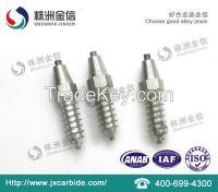 Tungsten carbide screw tire studs