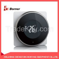 Black newest style LCD digital floor water heating Wireless WIFI