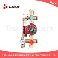 Floor Heating Intelligent Water Mixing contol Center with pump connect