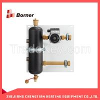 Silver Hydraulic water pressure separator Water Mixing Tank for heated