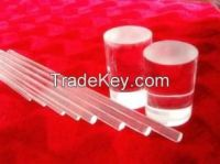 high purity fused clear quartz rod of all diameter