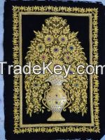 Wall Hanging Jewel Carpets with semi precious stones
