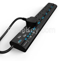 UK Surge Protector USB Power Strip