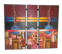 Blue Moon (Polyptych painted in oil on canvas)