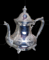 Extended (Teapot in nickel-plated copper)