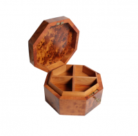 Hexagon Box (Wooden Jewellery Box with drawers)