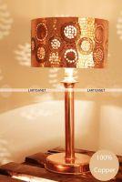 Table Lamp copper - Handmade Lamp Table - Lamp design - Lamp Vintage Table