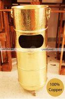 Copper ashtray stand - Copper standing ashtray