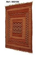 Kilim Berber Rug (Origin: Tunisia) 100% Wool (Ref # 002100)