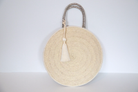 Round Shape Palm Leaf bag by CARAVAN SERAIL