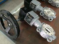 Ceramic lined butterfly valve