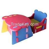 Meitoku special eva foam material kids table and chair