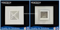 Hvac ventilation used aluminum square ceiling diffuser