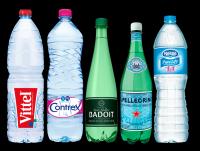 Evian, Vittel, Contrex, San Pellegrino, Badoit, Courmayeur, Perrier Mineral Water