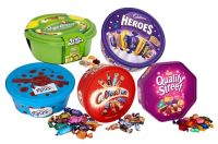 Quality Street Chocolate Bars, Heroes, Mars Celebrations, Roses Chocolate Bars