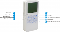 Bidet toilet seat; heated electric toilet seat; Auto washing toilet seat with remote controller RSD3601