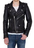 New Men's Genuine Leather Jacket Slim fit Biker Motorcycle jacket