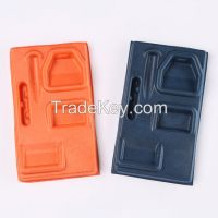 Recycled and compostable wet pressing color molded paper packaging