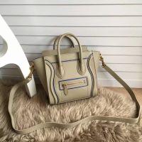 Hot sell fashion leather MICRO LUGGAGE & shopper tote