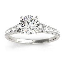 Transcendent Brilliance 14k White Gold Graduate 1 1/4 TDW Diamond Engagement Ring