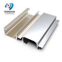 matt anodized silver Aluminum G Section Handle Kitchen Cabinet Profile