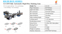 Fully Automatic High Speed Box Making Line For Packaging Boxes