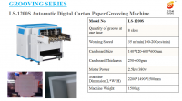 Automatic High Speed Digital Cover Paper Grooving Machine