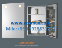 Stainless steel cabinet with mirror and led