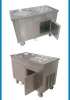 biggest fried ice cream machine,stainless steel Thailand fried ice machine,15L/H