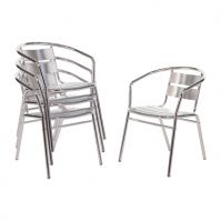 ALUMINIUM CHAIR SILVER