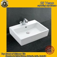 2017 fashion europen style hot sell sanitary ware basin with pedestal made in china factory