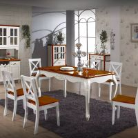 New Design Dining Table Rectangle Wooden Oak Factory Price China Manufacturer source building material:chinahome.com